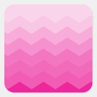 Bubble Gum Ombre Square Sticker