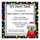 Bubble Gum Party Custom Announcements