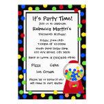Bubble Gum Party Custom Invites
