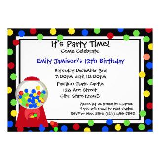 Bubble Gum Party Custom Announcement