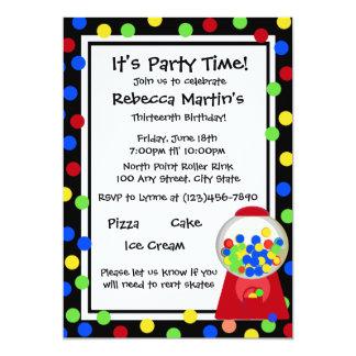 "Bubble Gum Party 5"" X 7"" Invitation Card"
