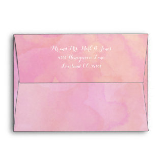 Bubble Gum Pink Abstract Watercolor Pattern Envelope