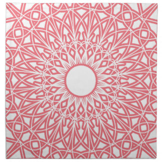 Bubble Gum Pink Crocheted Lace Fabric Napkins
