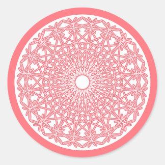 Bubble Gum Pink Crocheted Lace Sticker
