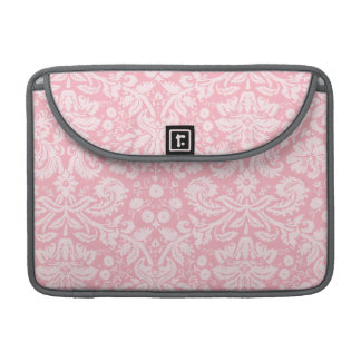 Bubble Gum Pink Damask Pattern Sleeve For MacBook Pro