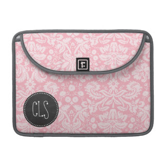 Bubble Gum Pink Damask; Retro Chalkboard Sleeve For MacBook Pro