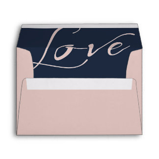 Bubble Gum Pink Envelope with Pink Love Liner