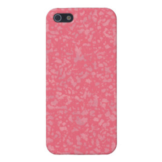Bubble Gum Pink Flecks iPhone SE/5/5s Cover