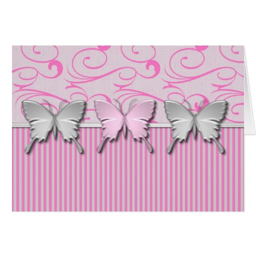 Bubble Gum Pink Heart Customizable Cards