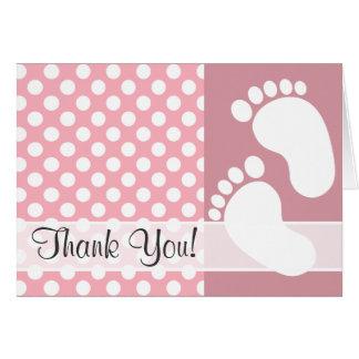 Bubble Gum Pink Polka Dots Card
