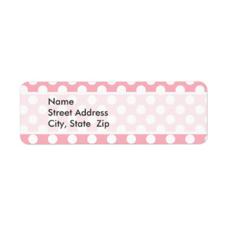 Bubble Gum Pink Polka Dots Label