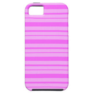 Bubble Gum Pink & Shocking Pink Stripes iPhone 5 iPhone SE/5/5s Case