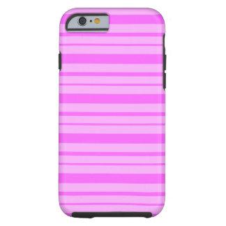Bubble Gum Pink & Shocking Pink Stripes iPhone 6 c Tough iPhone 6 Case