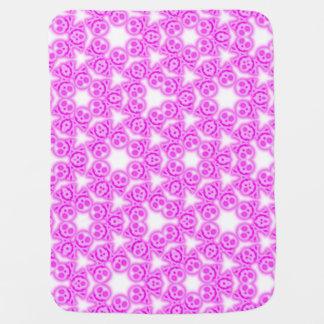 Bubble Gum Pink Skulls baby blanket