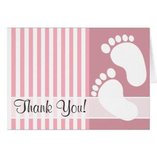 Bubble Gum Pink Stripes; Striped Card