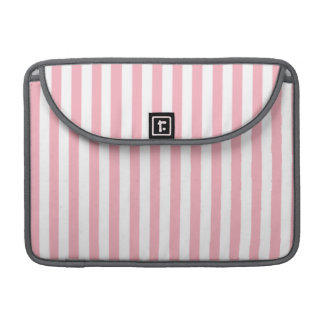 Bubble Gum Pink Stripes; Striped Sleeve For MacBook Pro