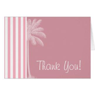Bubble Gum Pink Stripes; Tropical Palm Card