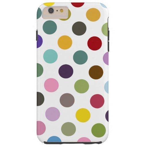 Bubble Gum Polkadot Tough iPhone 6 Plus Case