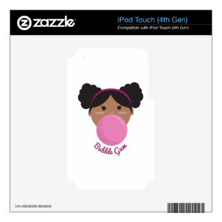 Bubble Gum Princess Decal For iPod Touch 4G
