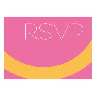Bubble Gum RSVP Large Business Card