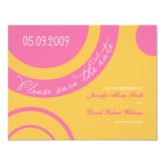 Bubble Gum Save the Date Card