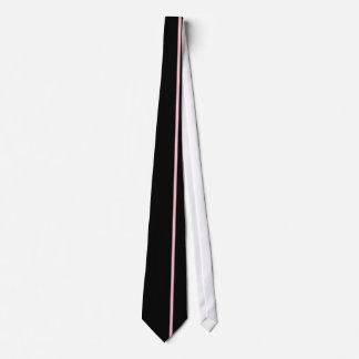 Bubble Gum Thin Vertical Line on Black Tie