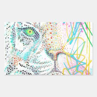 Bubble Gum Tiger Rectangular Sticker