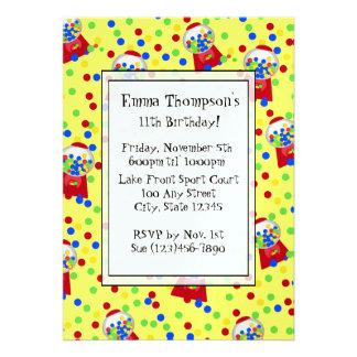 Bubble Gumballs Party Invitation