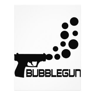 bubble gun icon personalized flyer