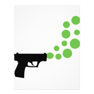bubble gun with bubbles icon personalized flyer
