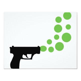 bubble gun with bubbles icon 4.25x5.5 paper invitation card