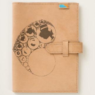 Bubble Heart Leather Journal