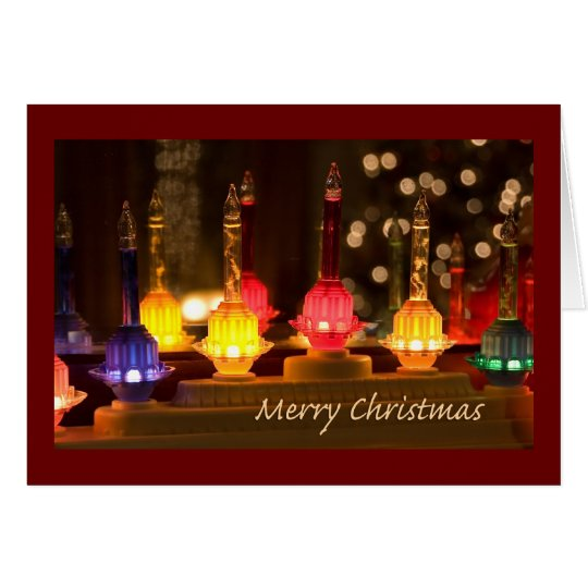 Bubble Light Christmas Card