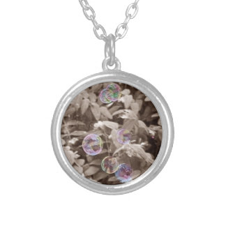 Bubble Magick Silver Plated Necklace