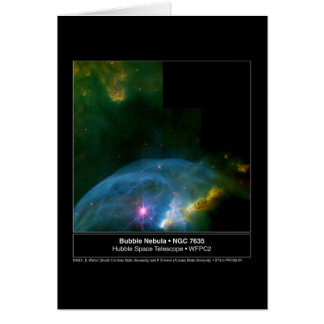 Bubble Nebula 7635 Hubble Telescope Card