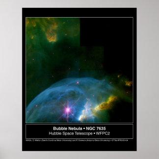 Bubble Nebula 7635 Hubble Telescope Posters