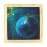Bubble Nebula Gold Finish Lapel Pin
