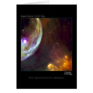Bubble Nebula - NGC 7635 Hubble Telescope Card