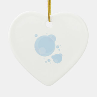 Bubble Double-Sided Heart Ceramic Christmas Ornament