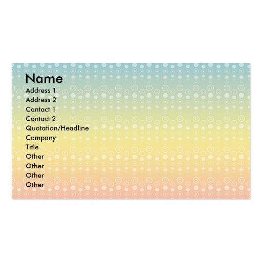Bubble pattern on rainbow pastel business card
