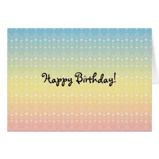 Bubble pattern on rainbow pastel card
