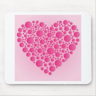 Bubble Pink  Hart Mouse Pad