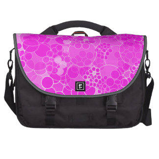 Bubble Pink Polka Dots Laptop Bag