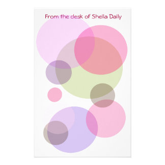 Bubble Pinks Personalized Stationary Customized Stationery