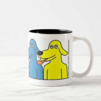BUBBLE-PIPE DOGS $14.95 Two-Tone COFFEE MUG