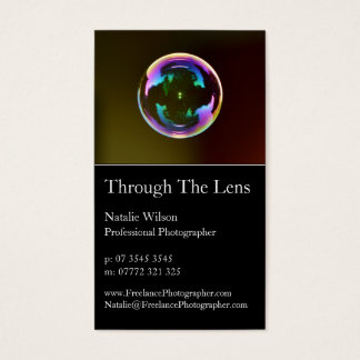 Bubble Professional Photography Business Card