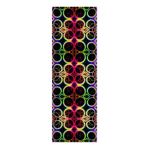 Bubble Rings Rainbow Holographic Effect Art Business Cards