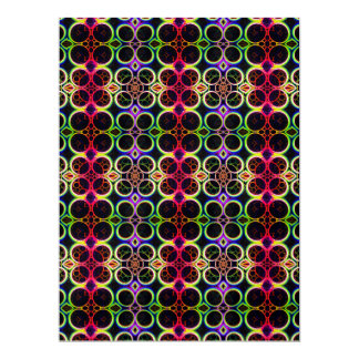 Bubble Rings Rainbow Holographic Effect Art Custom Invitation