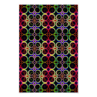Bubble Rings Rainbow Holographic Effect Art Posters
