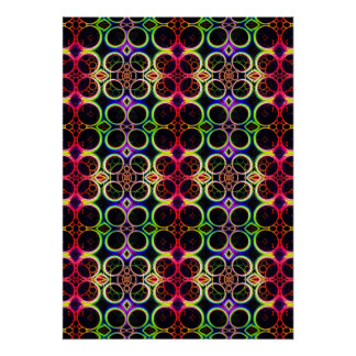 Bubble Rings Rainbow Holographic Effect Art Poster